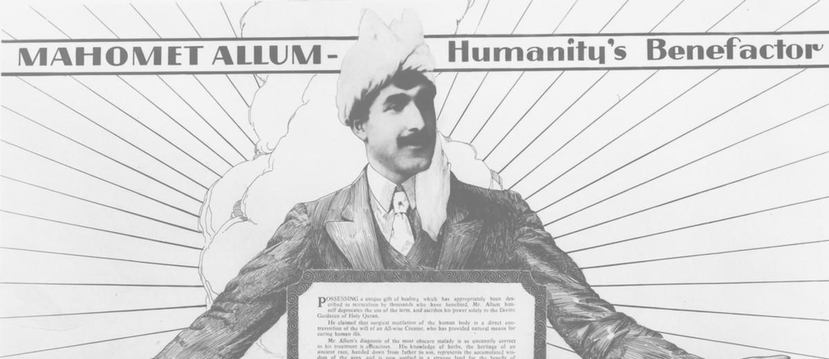 Image: advertisement showing a man wearing a white turban