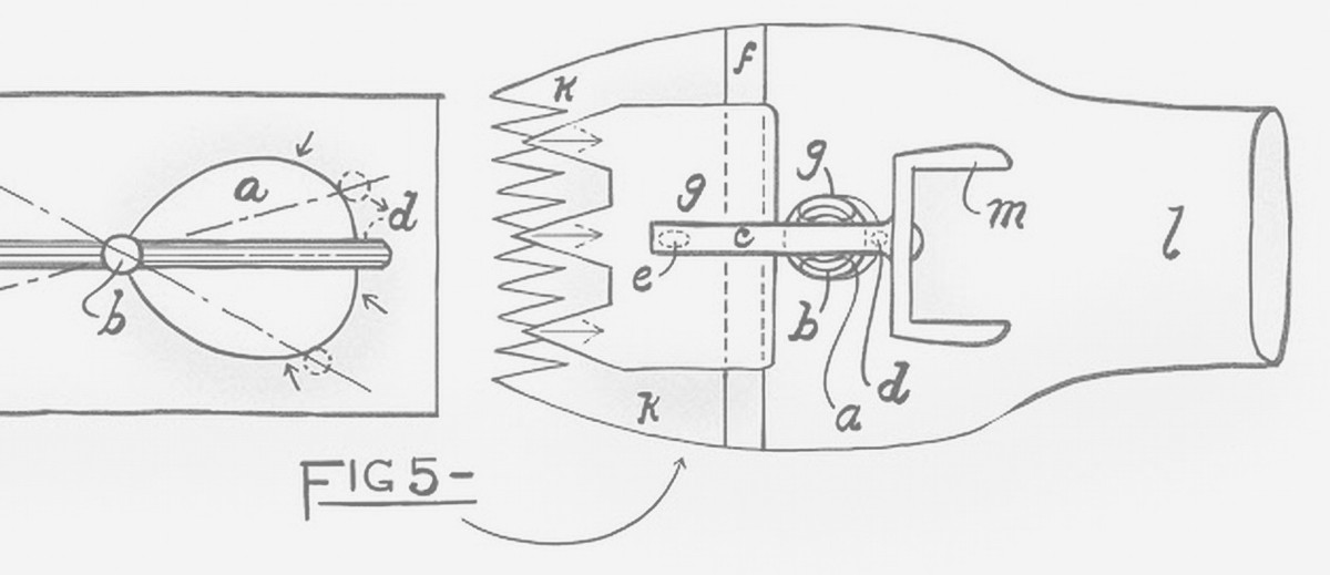 Image: A hand-drawn schematic of wool shears, submitted by David Unaipon and dated 3 September 1909. The patent application number is 15,624/09