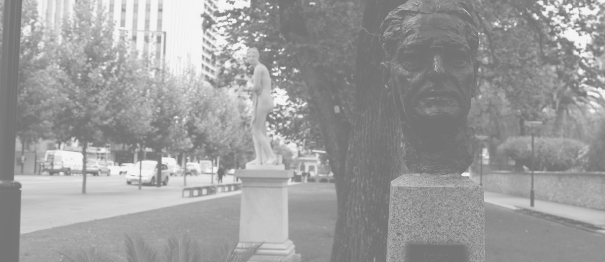 Bust of Lord Florey, North Terrace, Adelaide, 2013