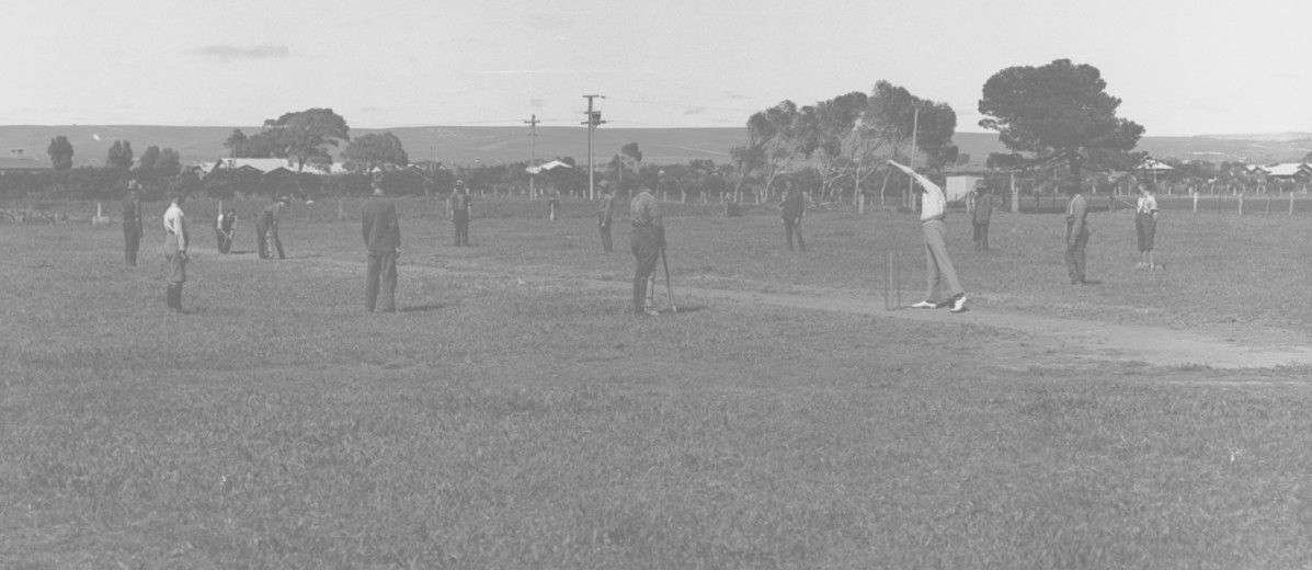 Image: Boys playing cricket
