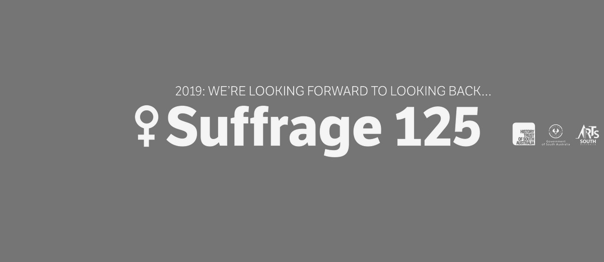 Banner image of the Suffrage 125 celebrations