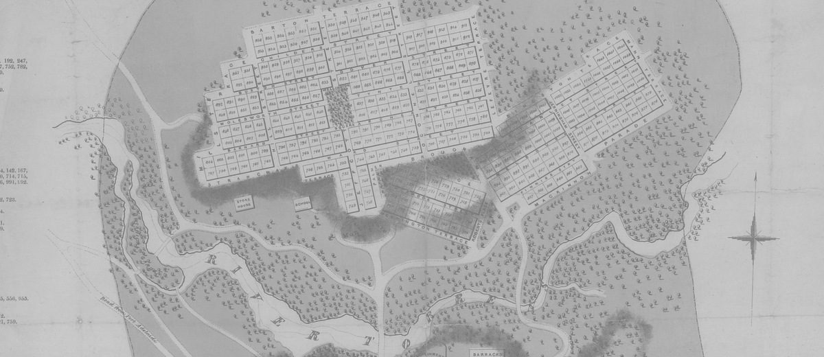 Image: sepia city map