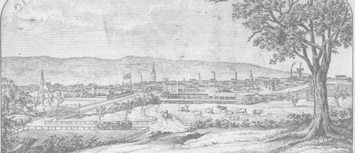 Image: view of Adelaide in 1860