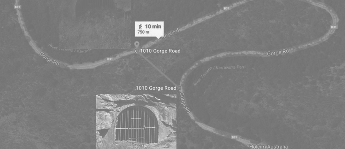 Image: satelite view of road with tow locations highlighted