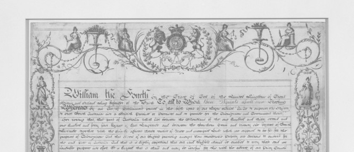 Image: Old document in browning ink with large wax seal attached at bottom