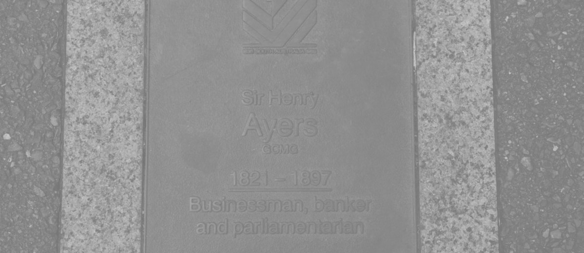 Image: Sir Henry Ayers Plaque