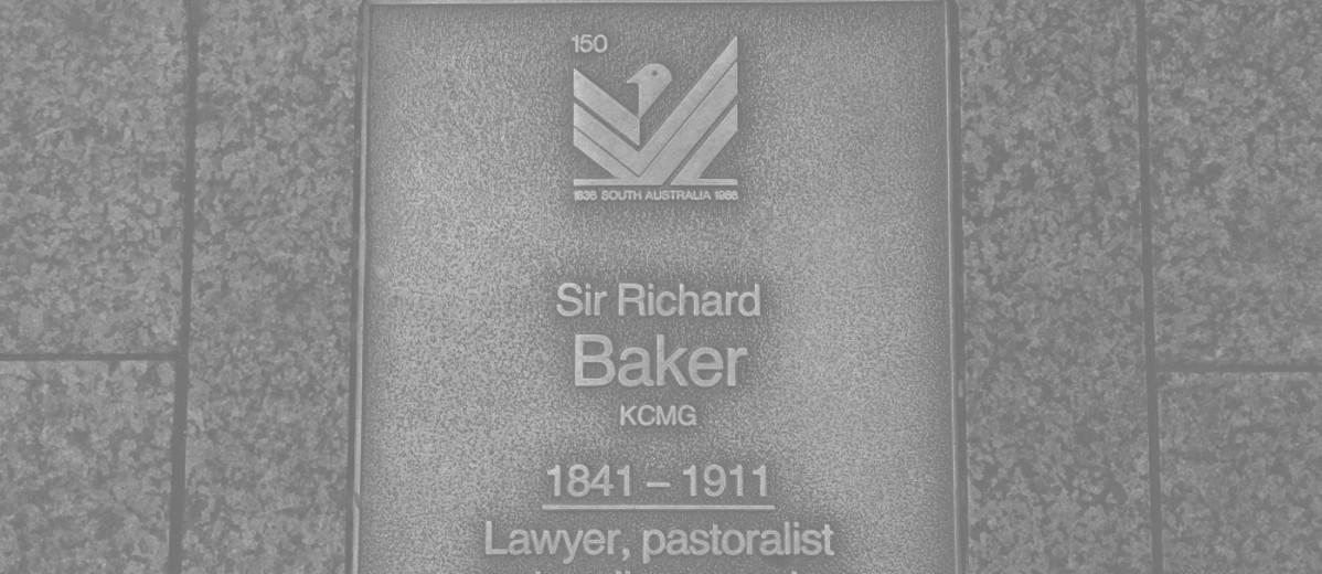 Image: Sir Richard Baker Plaque