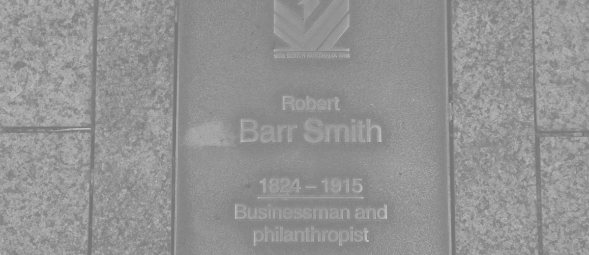 Image: Robert Barr Smith Plaque