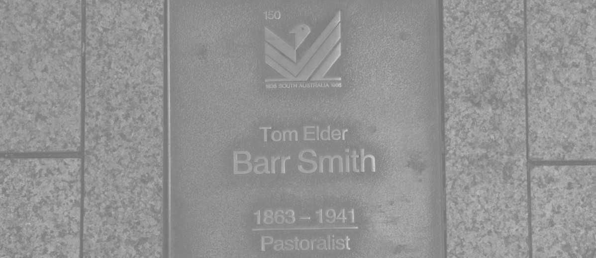 Image: Tom Elder Barr Smith Plaque