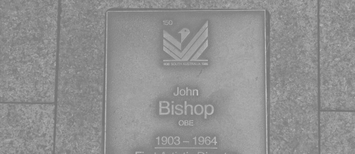 Image: John Bishop OBE Plaque