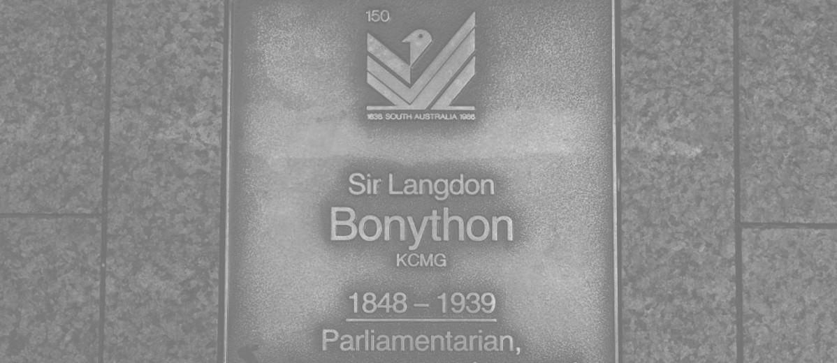 Image: Sir Langdon Bonython Plaque