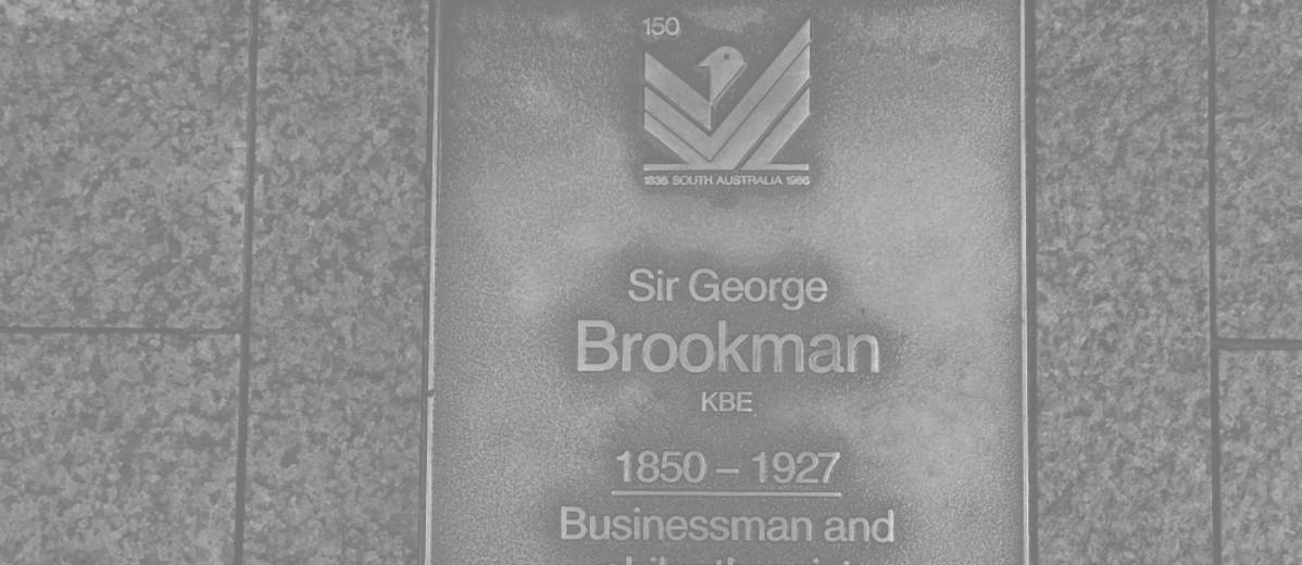 Image: Sir George Brookman Plaque