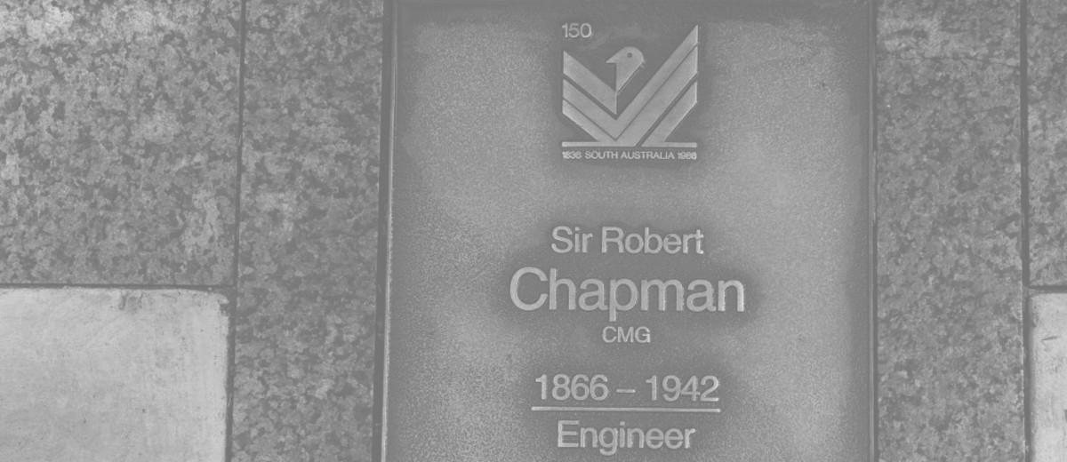 Image: Sir Robert Chapman Plaque