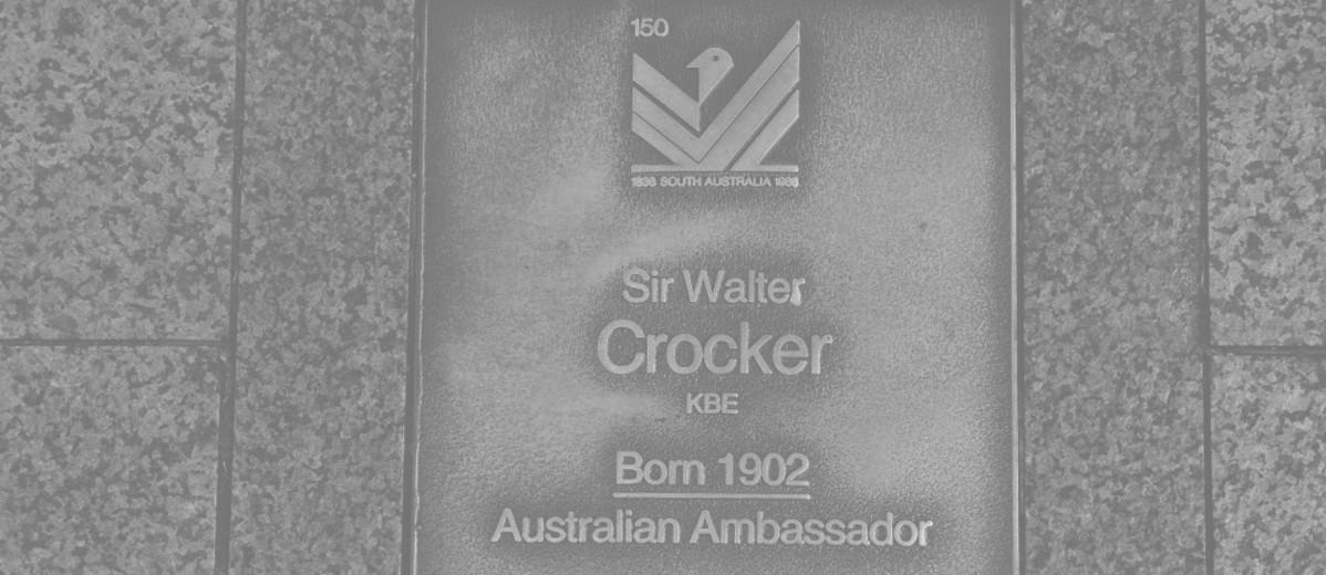 Image: Sir Walter Crocker Plaque