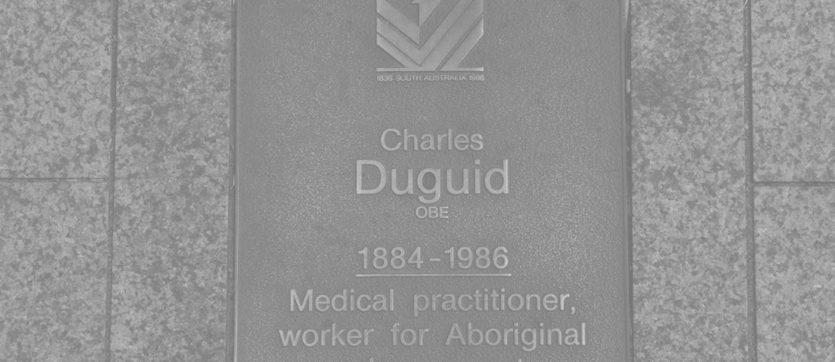 Image: Charles Duguid Plaque