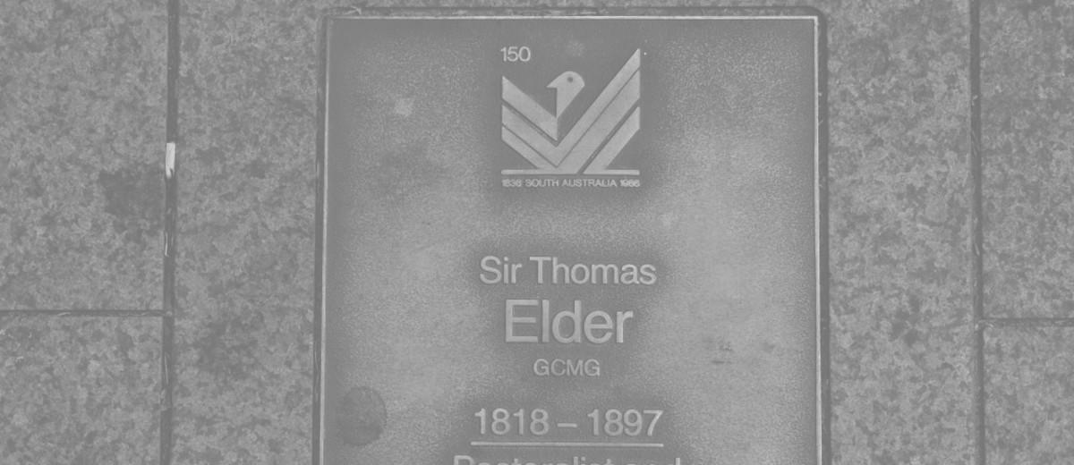 Image: Sir Thomas Elder Plaque