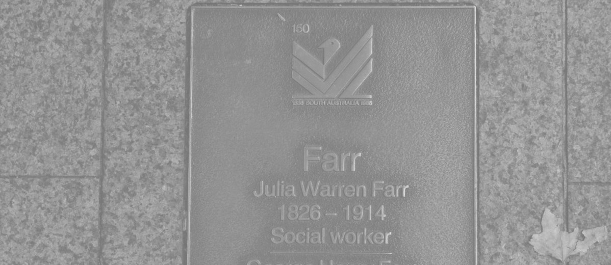 Image: Julia Warren Farr and George Henry Farr Plaque