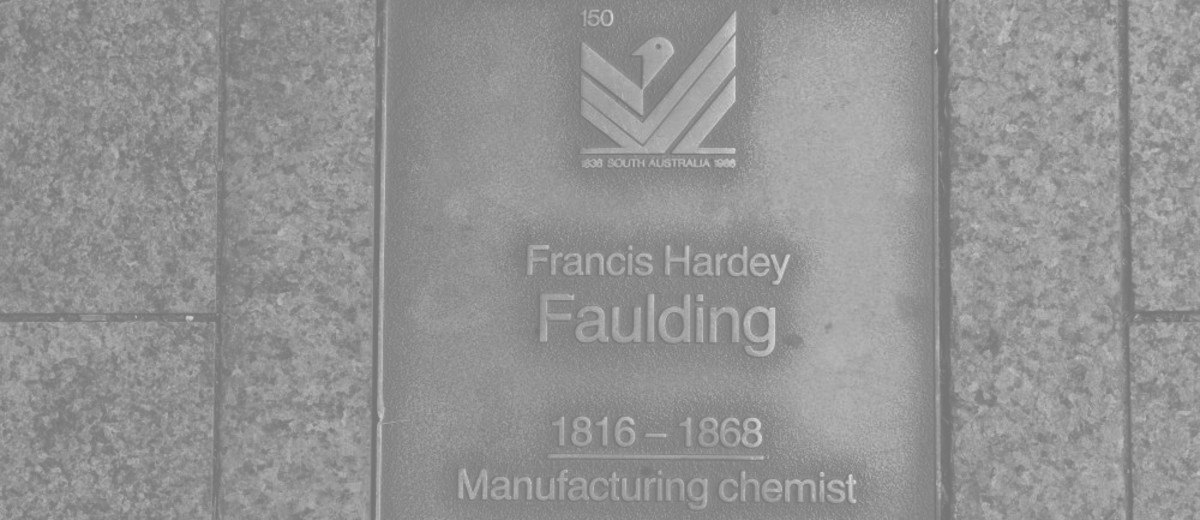 Image: Francis Hardey Faulding Plaque