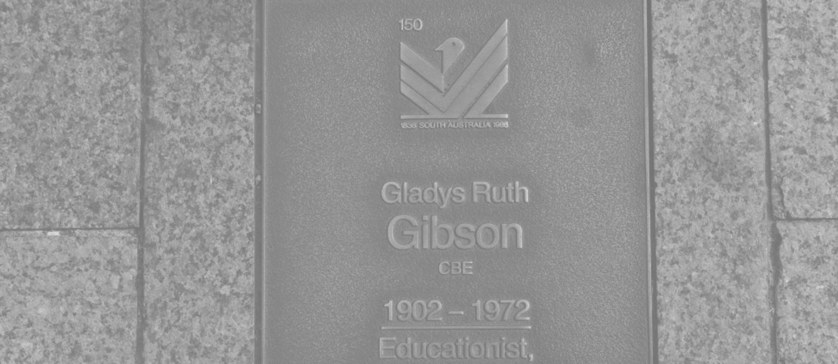 Image: Gladys Ruth Gibson Plaque