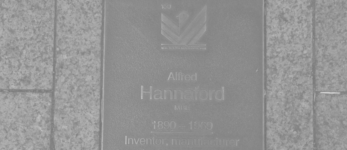 Image: Alfred Hannaford Plaque