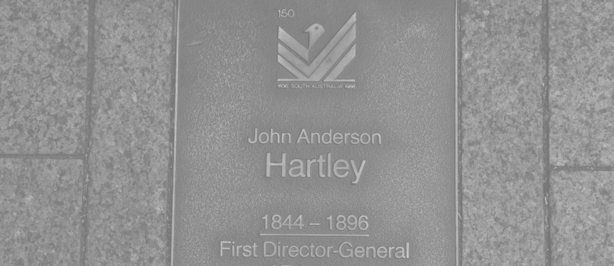 Image: John Anderson Hartley Plaque
