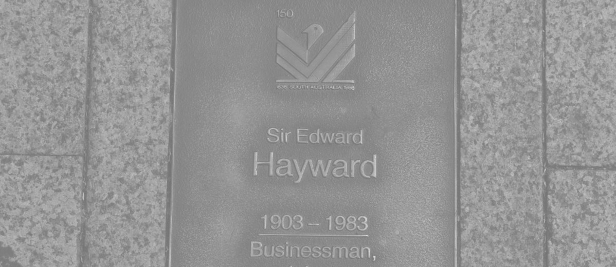 Image: Sir Edward Hayward Plaque