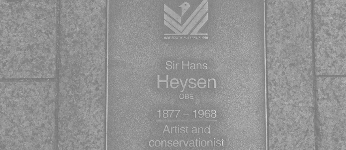 Image: Sir Hans Heysen Plaque