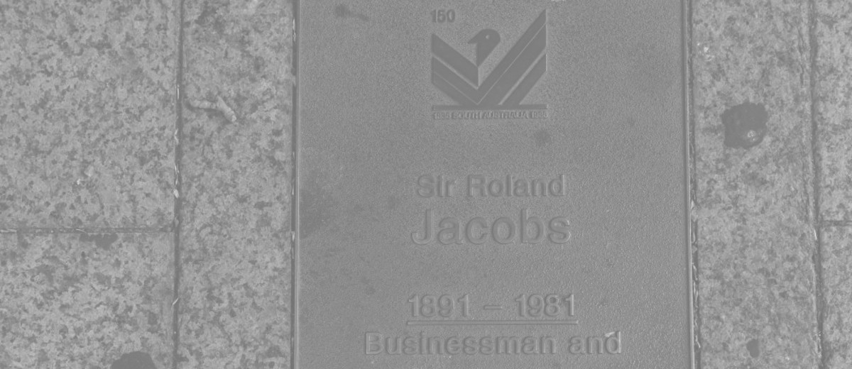 Image: Sir Roland Jacobs Plaque