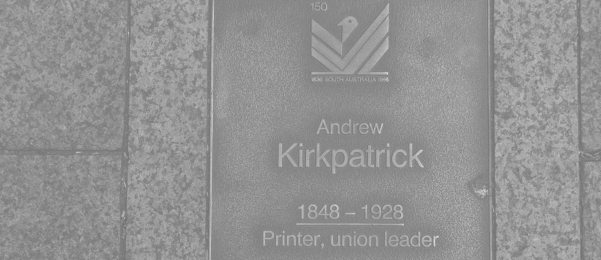 Image: Andrew Kirkpatrick Plaque