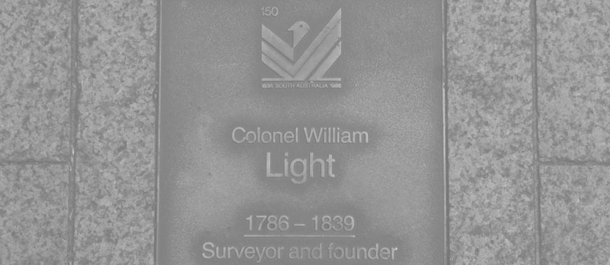 Image: Colonel William Light Plaque