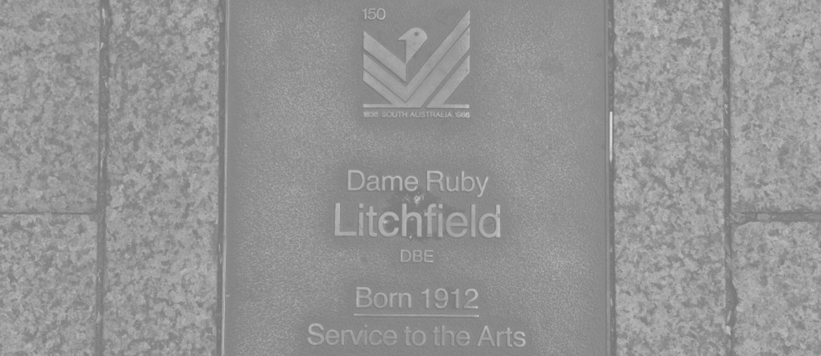 Image: Dame Ruby Litchfield Plaque