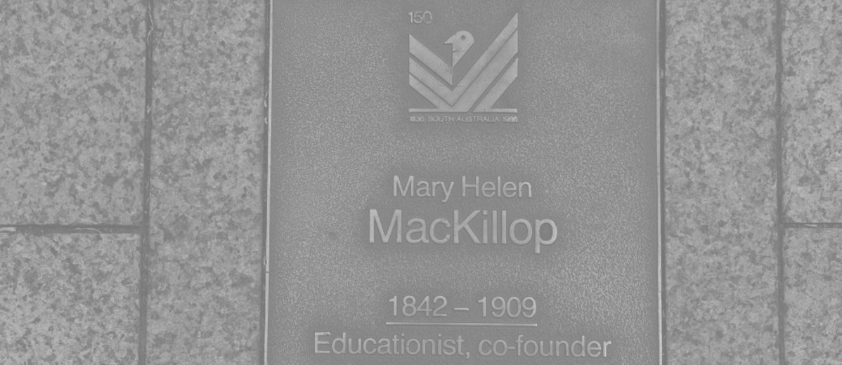 Image: Mary Helen MacKillop Plaque