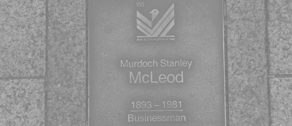 Image: Murdoch Stanley McLeod Plaque