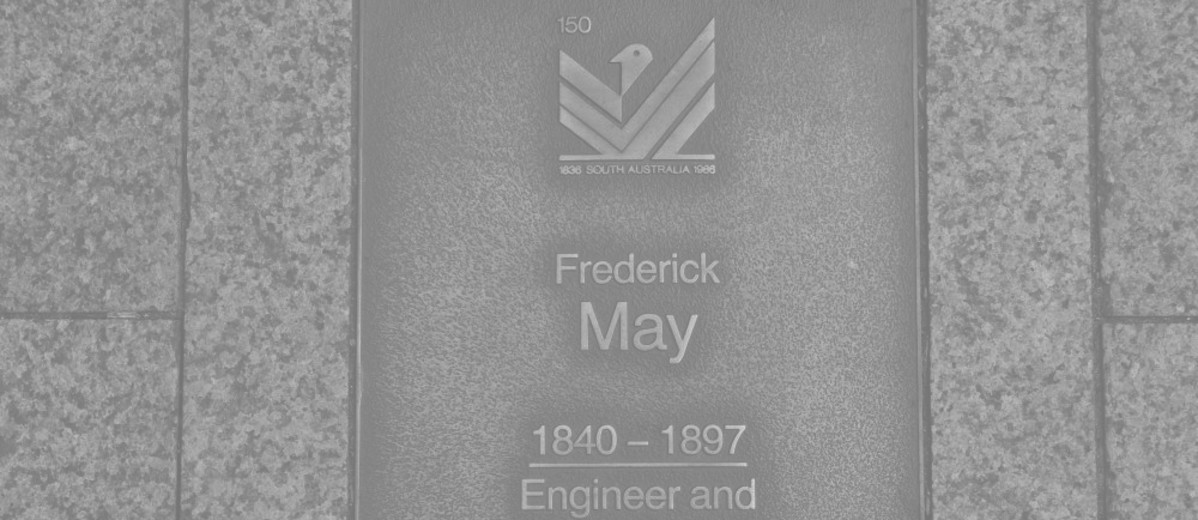Image: Frederick May Plaque