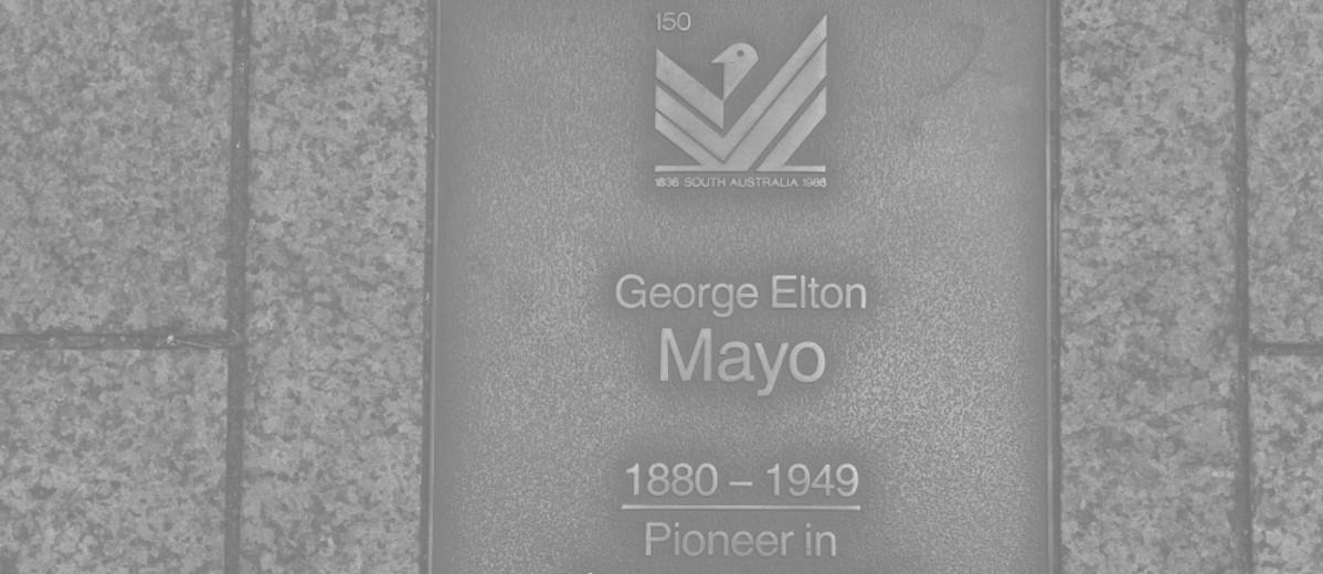 Image: George Elton Mayo Plaque