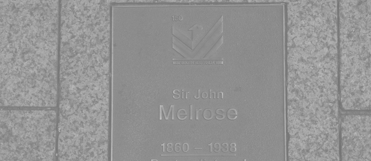 Image: Sir John Melrose Plaque