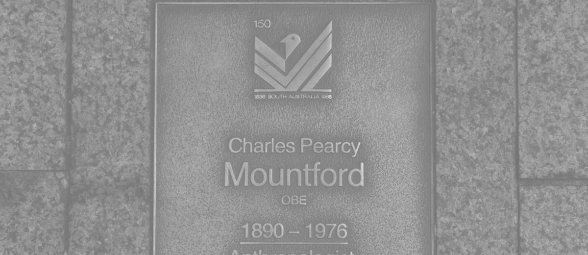 Image: Charles Pearcy Mountford Plaque