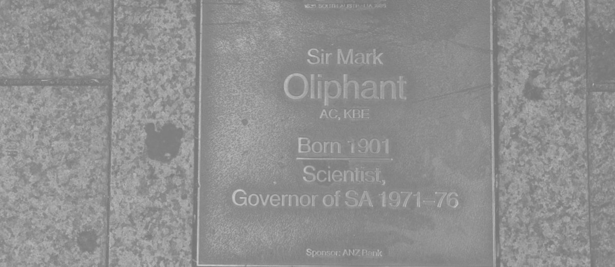 Image: Sir Mark Oliphant Plaque