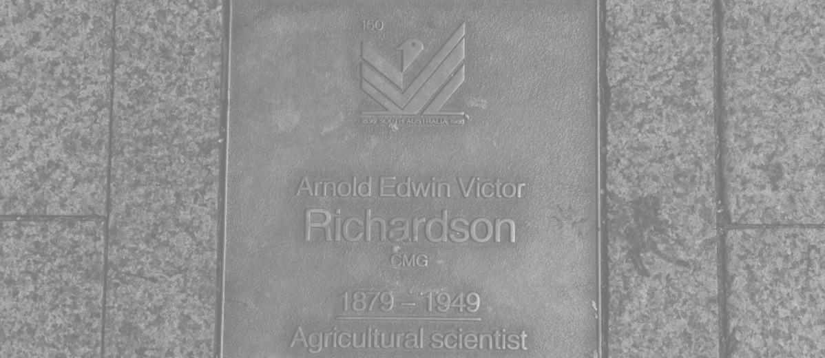Image: Arnold Edwin Victor Richardson Plaque