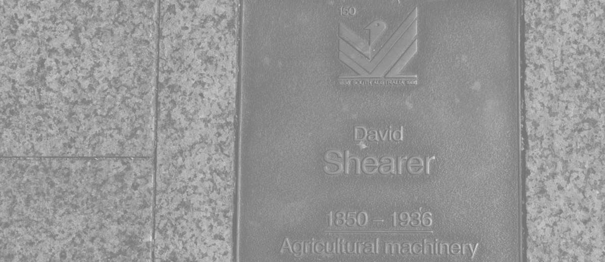 Image: David Shearer Plaque