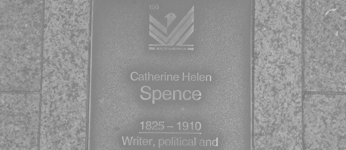 Image: Catherine Helen Spence Plaque