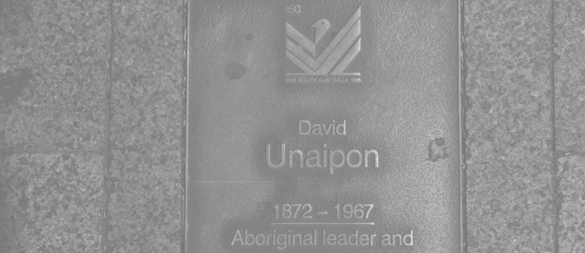 Image: David Unaipon Plaque