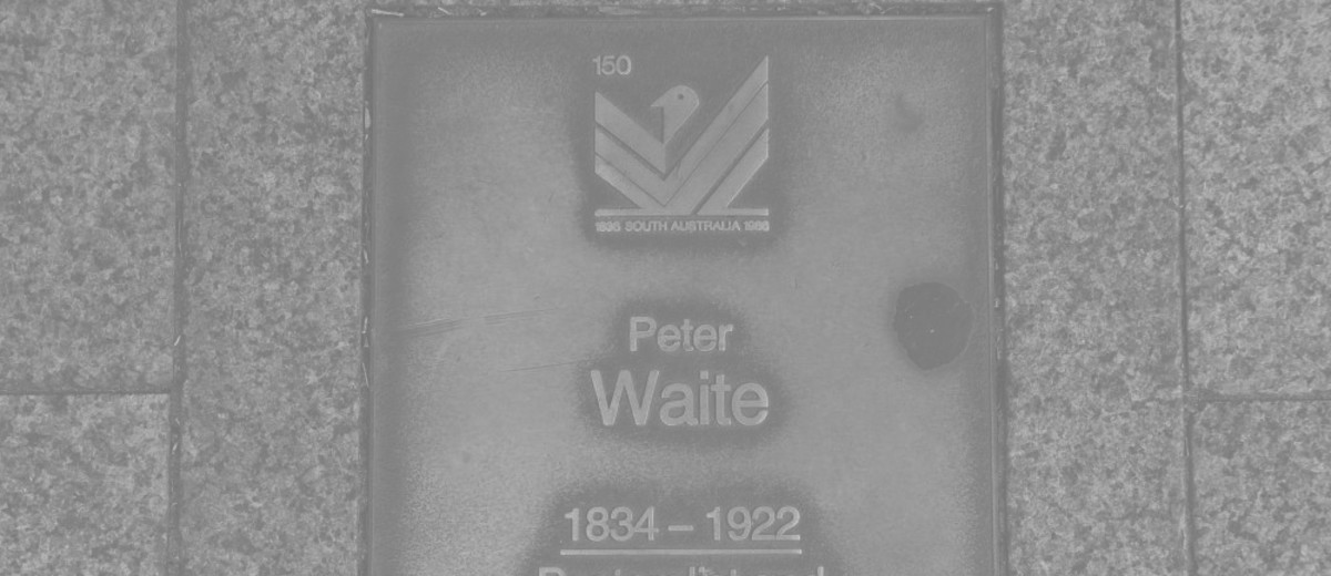 Image: Peter Waite Plaque