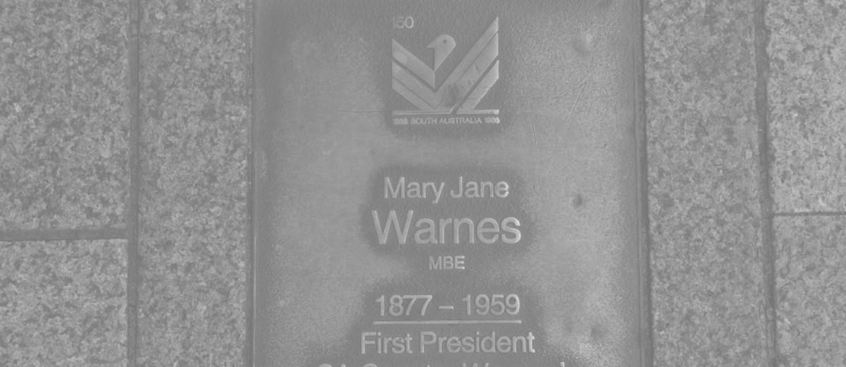 Image: Mary Jane Warnes Plaque