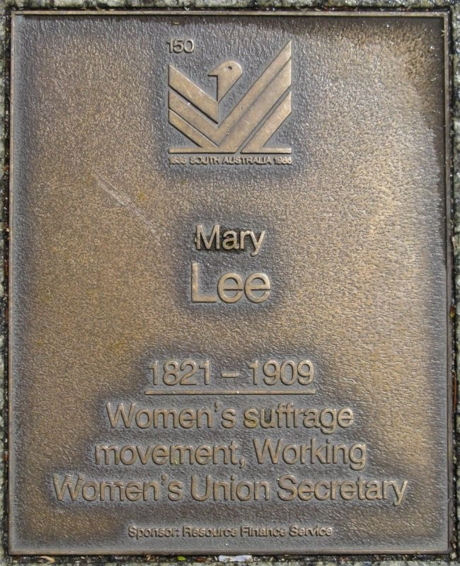 J150 Plaque Mary Lee Adelaidia