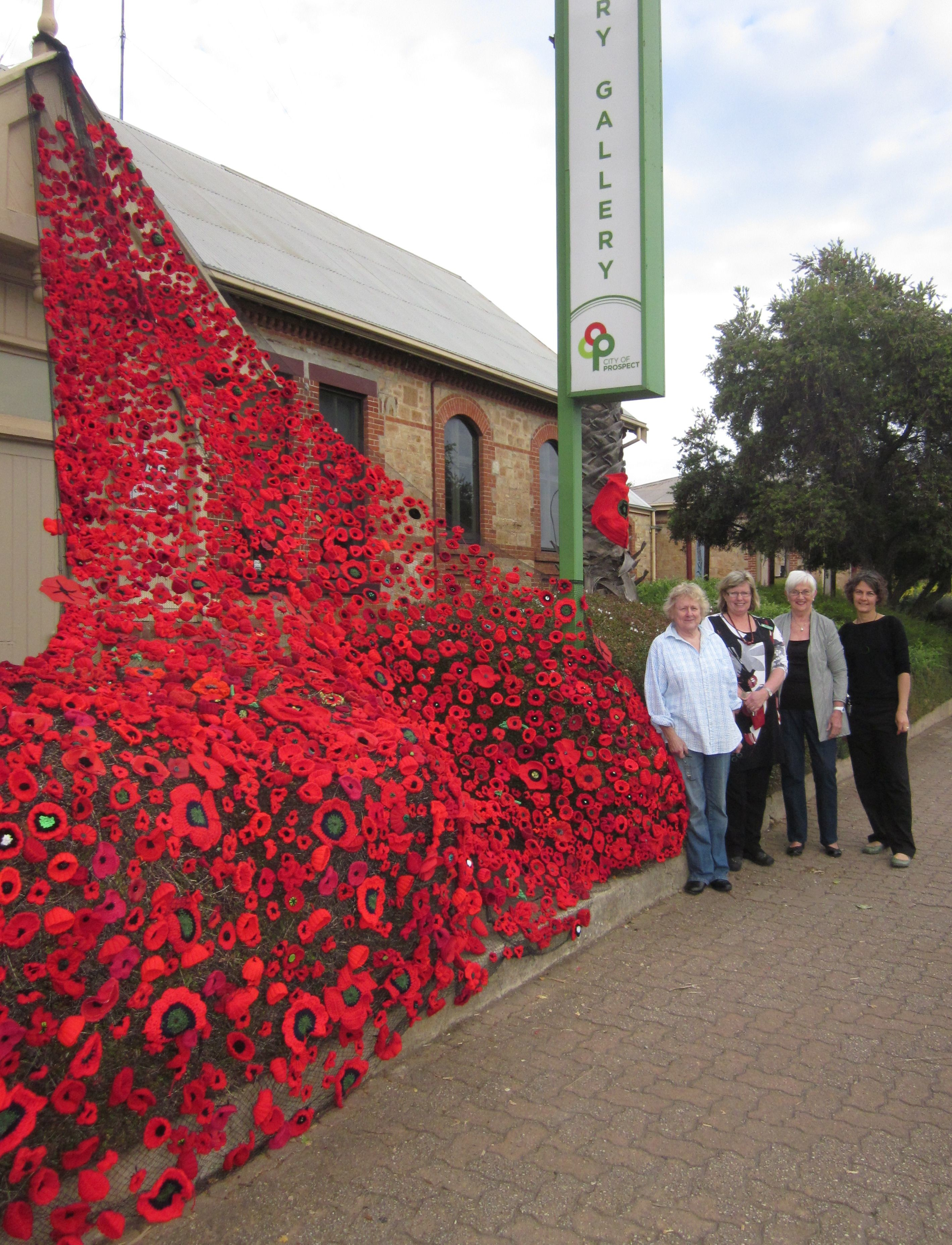 Yarn Bombing In Adelaide on 100th Day