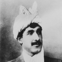 Image: a man wearing a white turban
