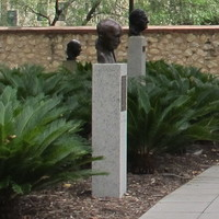 Image: Busts in Prince Henry Gardens