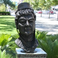 Bust of Mary Lee, North Terrace, Adelaide, 2013