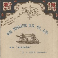 Image: Christmas card front showing steamship